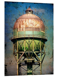 Foam board print  water tower - Dieter Ziegenfeuter