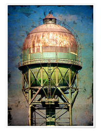 Poster  water tower - Dieter Ziegenfeuter