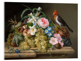 Acrylic print  Two floral still lifes - Franz Xaver Petter