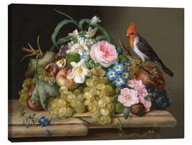 Canvas print  Two floral still lifes - Franz Xaver Petter