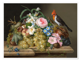 Premium poster Two floral still lifes