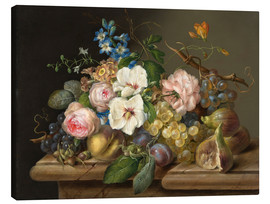 Canvas print  A pair of flowers still life - Franz Xaver Petter
