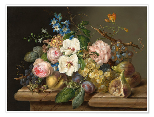 Premium poster A pair of flowers still life