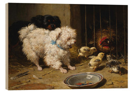 Wood  A Bichon Frise and a King Charles Spaniel - Henriette Ronner-Knip
