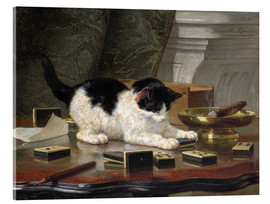 Acrylic glass  The Cat at Play - Henriette Ronner-Knip