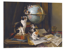 Forex  A cat with a globe - Henriette Ronner-Knip