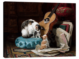 Canvas print  The guitar lesson - Henriette Ronner-Knip