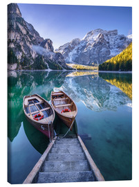 Canvas print  Braies South Tyrol - Achim Thomae