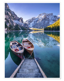 Premium poster  Braies South Tyrol - Achim Thomae