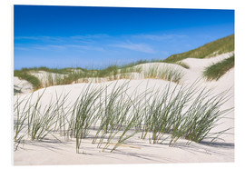 Foam board print  Gone with the wind - in the dunes of Sylt - Reiner Würz
