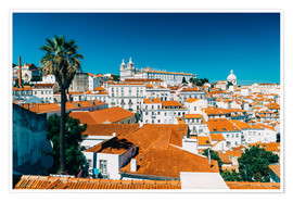Premium poster Panoramic View Of Lisbon Skyline