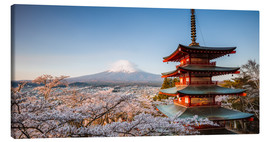 Canvas print  Pagoda and Mt. Fuji with cherry blossom, Japan - Matteo Colombo