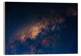 Wood print  The core of the Milky Way - Fabio Lamanna