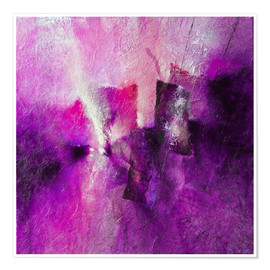 Premium poster abstract composition with magenta