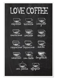 Premium poster Coffee variants
