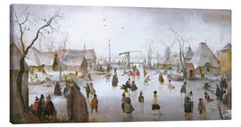 Canvas print  Winter landscape with skaters - Hendrick Avercamp