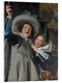 Acrylic print  Young Man and Woman in an Inn - Frans Hals