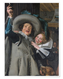 Premium poster Young Man and Woman in an Inn