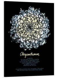 Aluminium print  Everything in its time - Chrysanthemum - Sonia Nezvetaeva
