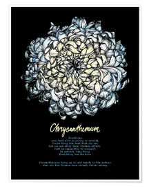 Premium poster Everything in its time - Chrysanthemum