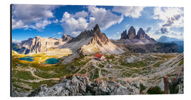 Aluminium print  Panorama of Refuge Antonio Locatelli, South Tyrol - Dieter Meyrl