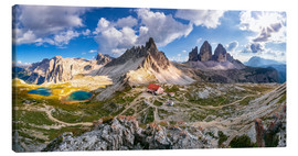 Canvas  Tre Cime - Panorama - Rifugio Antonio Locatelli - Dieter Meyrl
