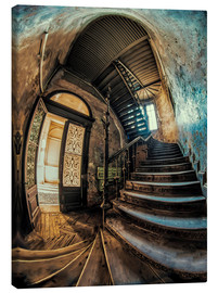 Canvas  Old forgotten staircase - Jaroslaw Blaminsky
