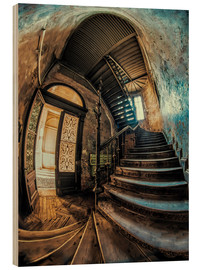 Wood  Old forgotten staircase - Jaroslaw Blaminsky