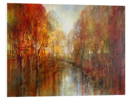 Foam board print  and the forests will echo with laughter - Annette Schmucker