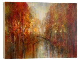 Wood print  and the forests will echo with laughter - Annette Schmucker
