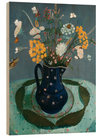 Wood print  Flower bouquet - Paula Modersohn-Becker
