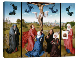 Canvas print  Triptych, The Crucifixion - Rogier van der Weyden