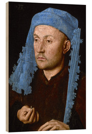 Wood print  Man in a Blue Cap - Albrecht Dürer