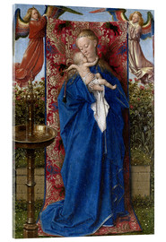Acrylic print  Madonna with child at the well - Jan van Eyck