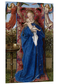 Foam board print  Madonna with child at the well - Jan van Eyck