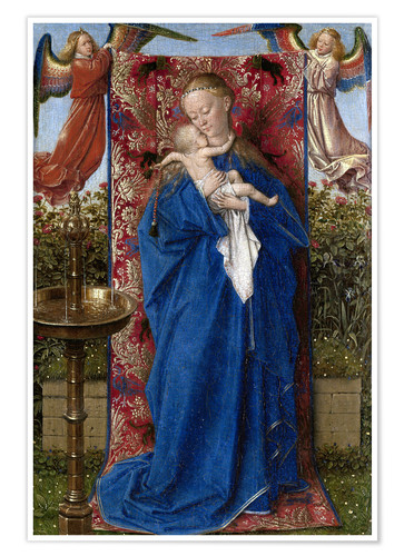 Premium poster Madonna with child at the well