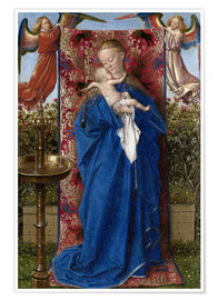 Premium poster  Madonna with child at the well - Jan van Eyck
