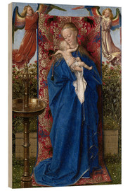 Wood  Madonna with child at the well - Jan van Eyck