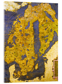 Acrylic print  The Scandinavian peninsula in the 16th century - Ignazio Danti