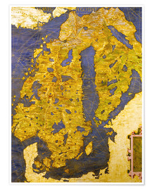 Premium poster The Scandinavian peninsula