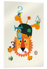Jaysanstudio - Colourful 123 lion