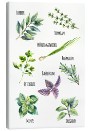 Canvas print  Herbs (German)