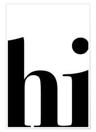 Premium poster  Hi Typography - Pulse of Art