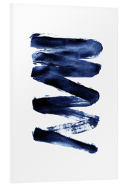 Foam board print  Blue lightning - Pulse of Art