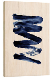 Wood print  Blue lightning - Pulse of Art