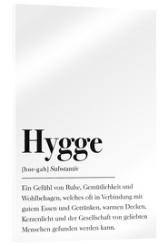 Acrylic glass  Hygge Definition German - Johanna von Pulse of Art