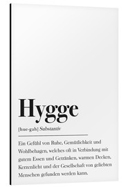 Alu-Dibond  Hygge Definition German - Johanna von Pulse of Art