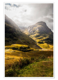 Premium poster Glencoe Valley Scotland