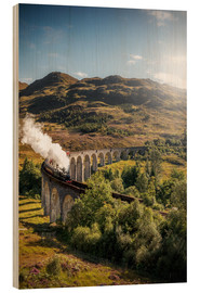Wood print  Glenfinnan viaduct in Scotland - Sören Bartosch