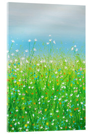 Acrylic print  DELICATE FLOWERS - Herb Dickinson